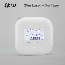 Nieuwe Akku 2 In 1 Digitale Laser Meet Laser Variërend Tape Met Lcd scherm Meetlint Laser Afstandsmeter meetinstrumenten