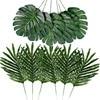 Planta Artificial de Palma, hojas de plantas tropicales, decoración para fiesta hawaiana, Aloha, hoja de palma, jungla, playa, decoración de fiesta de boda de verano