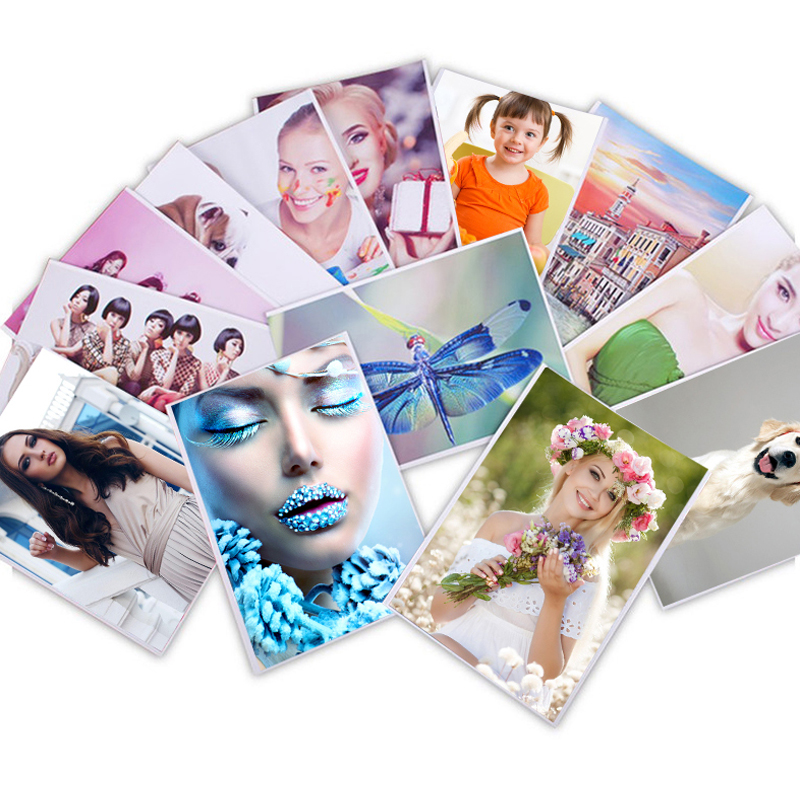 Sticker Photo-Paper Inkjet-Printing Self-Adhesive 100sheets High-Glossy A6 A5 A4