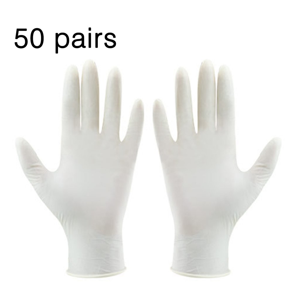 50 Pair A Level Disposable Latex Gloves Electronic Factory Laboratory Gloves Disposable Working Gloves 2019 NEW Arrival