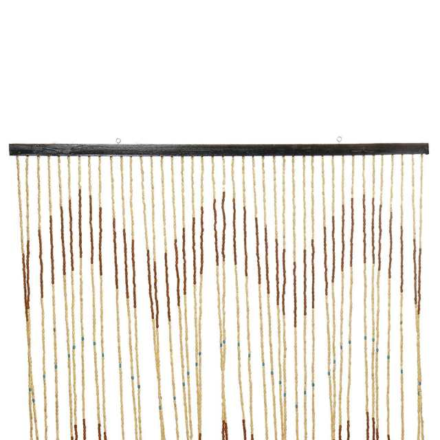 90x220cm High Quality Wooden Door Curtain Blinds Handmade Fly Screen Wooden Beads Room Divider 31 Line Non-toxic No Smell 6