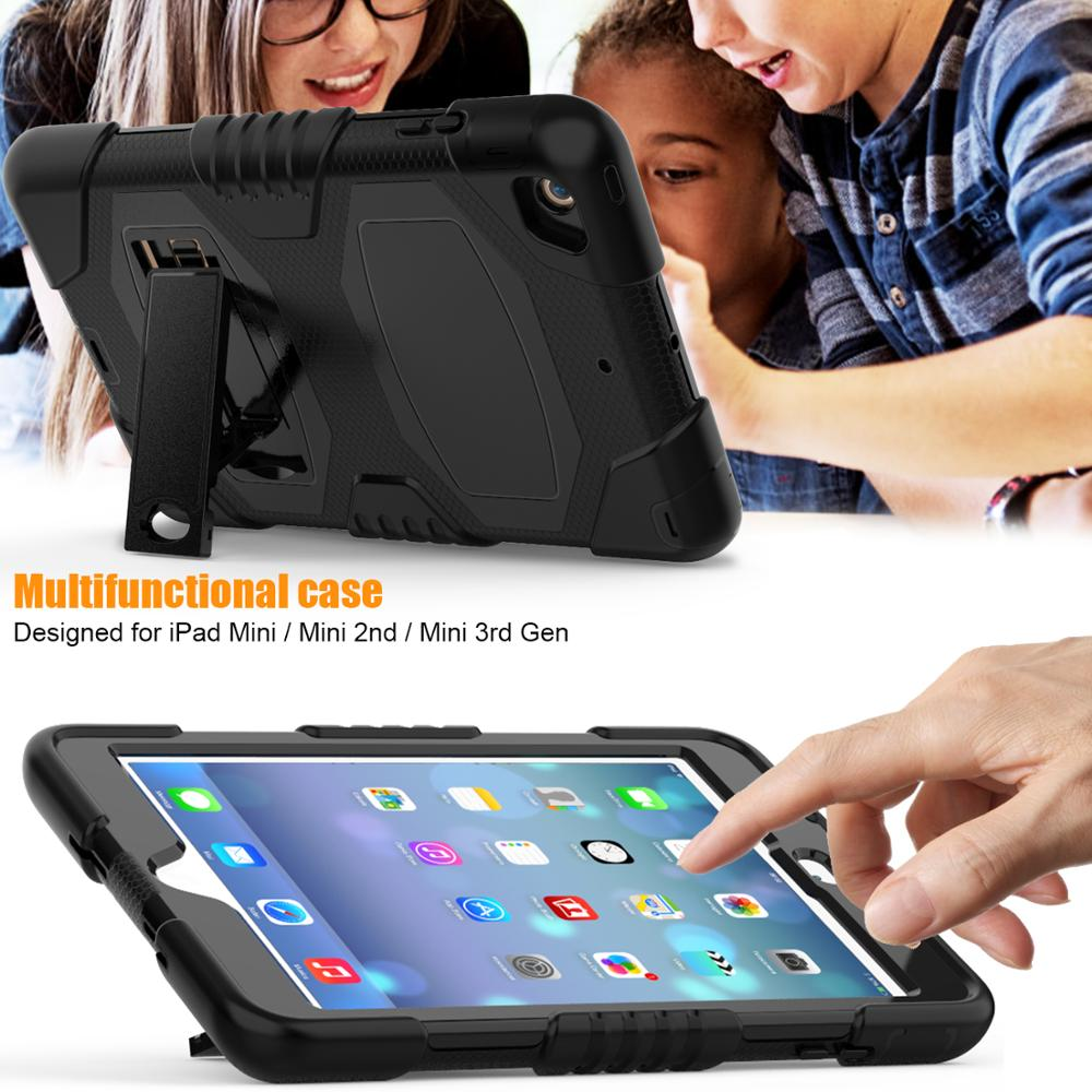 Foldable kickstand case for funda ipad mini 1 2 3 protective cover