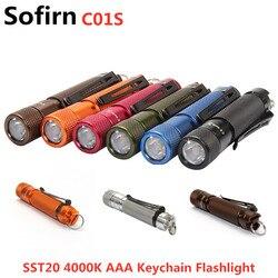 Sofirn C01S BLF Mini LED Taschenlampe AAA Twisty Hohe 95 CRI SST20 4000K LED schlüsselanhänger Taschenlampe Hut Licht mit clip