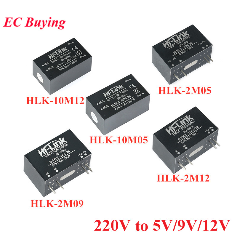 AC-DC Mini <font><b>Isolation</b></font> Switch <font><b>Power</b></font> Supply <font><b>Module</b></font> 220V to 12V/5V/9V/3.3V HLK-2M05 HLK-2M09 HLK-2M12 HLK-10M12 HLK-10M05 HLK 2M/10M image