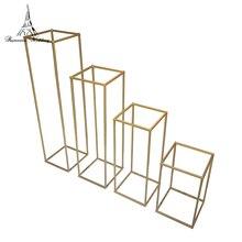 New Style Wedding Metal Flower Vase Column Stand for Centerpiece Decoration 10pcs/lot