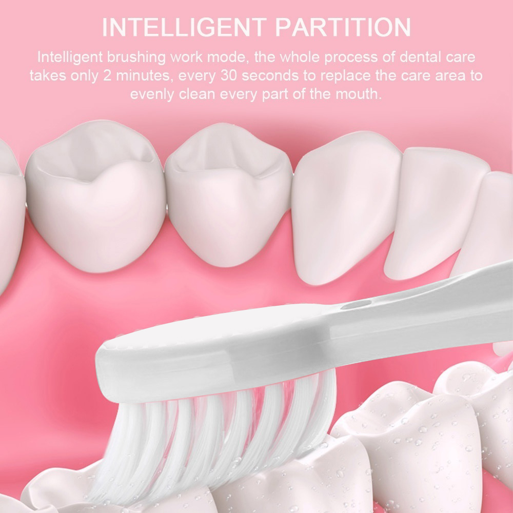 Comfortable Electric Toothbrush Waterproof Whitening Teeth Dental Care Plastic 3 Colors Intelligent Oral Cleaner Beauty Health