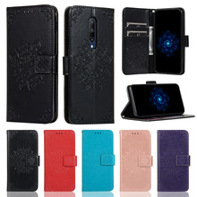 Embossed Leather Case For One Plus 7 Pro Bracket Card Slot Cover 6t Flip
