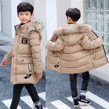 2020 nova roupa de inverno meninos 4 manter quente 5 crianças 9 casaco 8 adolescentes 10 a 15 anos de idade casaco de inverno de algodão mais grosso-30 graus