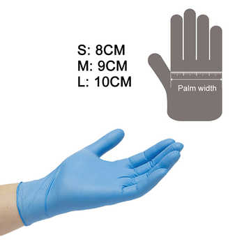 100Pcs Safety Protective Disposable Gloves Oil Resistant Puncture-proof Gloves Protect for Labor Home Food Dental Inspection Use