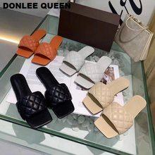 Шлепанцы женские с квадратным носком сланцы пляжная обувь вышивка
