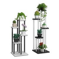 Wrought iron flower stand multifunctional flower shelf multi layer indoor special meat fleshy hanging basket green Luo province|Plant Shelves| |  -