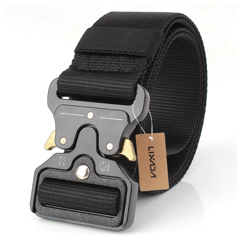 Lixada Tactical Belts Nylon Military Waist Belt With Metal Buckle Adjustable Heavy Duty Training Waist Belt Hunting Accessories