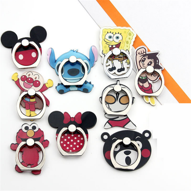 New Arrival Mobile Phone Holder Metal Finger Ring Holder Cute Cartoon Animal Phone Ring Holder Phone Stand Support For All Phone