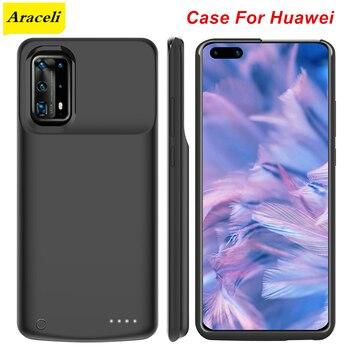Перейти на Алиэкспресс и купить Araceli News для Huawei P30 P30 Pro P40 P40 Pro Maimang 8 чехол для аккумулятора чехол для телефона с подставкой умный внешний аккумулятор P40 Pro Чехол для зарядного ...