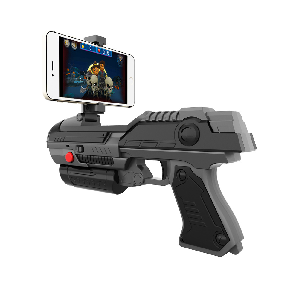 AR Gun Toy Game Pistol 3D Smart Support Bluetooth Connect With Mobile Phone Game Electric Gun Shooting Game Boys Toys