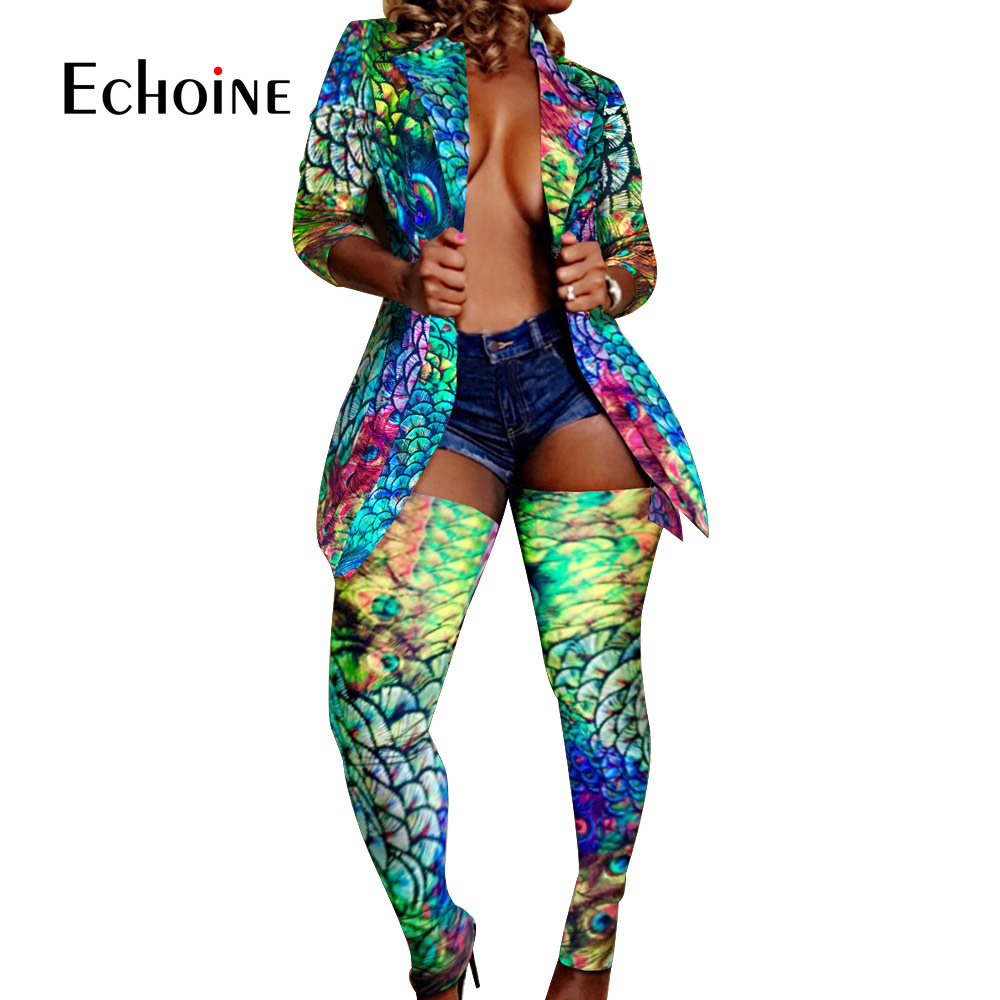 Colorful Print Camo Leopard Two Piece Set Women Rave Festival Pant Fall 2 Piece Set Matching Sets Sexy Club Outfits Plus Size