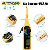 MS8211 Car Detector Multi-function MS8122 Circuit Tester 0V-380V Voltage Multimeter Lamp Automotive Electrical Car Repair Tool