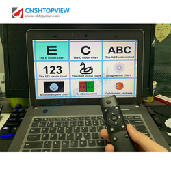 CP-27B متعددة الوظائف مخطط العين E الرؤية البصرية الرسم البياني البرمجيات رائجة البيع اختبار الرسم البياني