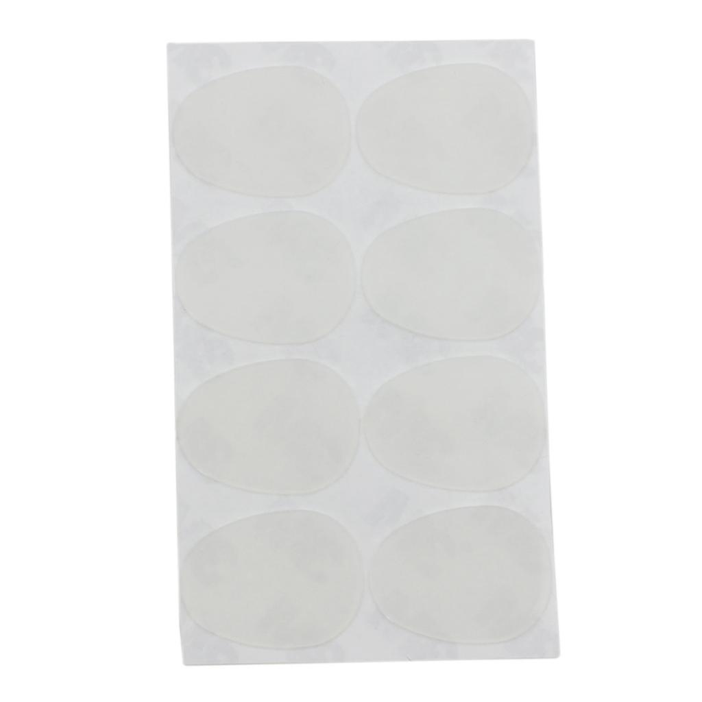 Pack Of 8 Adhesive Tenor Saxophone Mouthpiece Patches Pads Cushions 0.8mm White Wind Instrument Parts