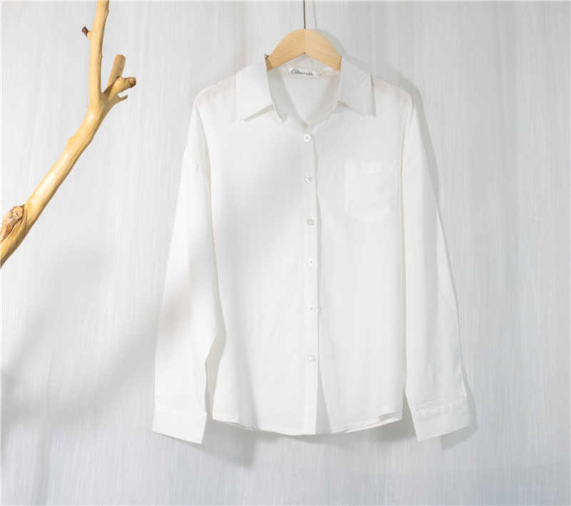 Colorfaith 새로운 2020 여성 봄 여름 블라우스 셔츠 격자 무늬 유행 싱글 브레스트 캐주얼 루즈 와일드 스위트 핑크 탑스 BL1023