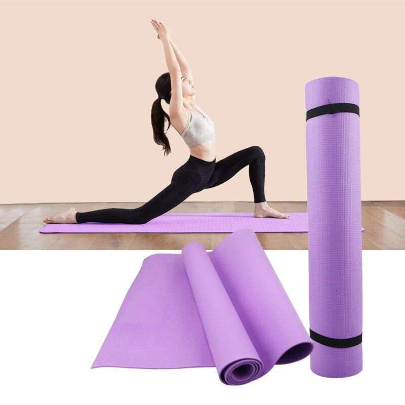 4 Mm PVC Thảm Tập Yoga Chống Trơn Trượt Chăn PVC Tập Thể Dục Thể Thao Sức Khỏe Giảm Thể Dục Tập Thể Dục Miếng Lót Nữ Thể Thao Thảm Tập Yoga