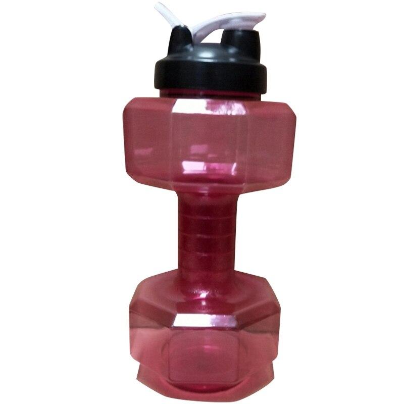 2.5л Многофункциональная Пластиковая спортивная бутылка в форме гантели пластиковое оборудование для занятий фитнесом