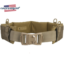 emersongear Emerson Battle Belt Molle Padded Patrol Tactical Belt Heavy Duty Belt Military Army Combat Gear Waist Belt KH