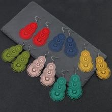 Luokey Women Long Earrings Multicolor Hollow Exaggerated Vintage Dangle Earrings Ethnic Tribal Minimalist Oorbellen Jewelry 2020 luokey women exaggerated dangle earrings geometric ethnic vintage statement earrings hollow bridal party wedding jewelry brincos
