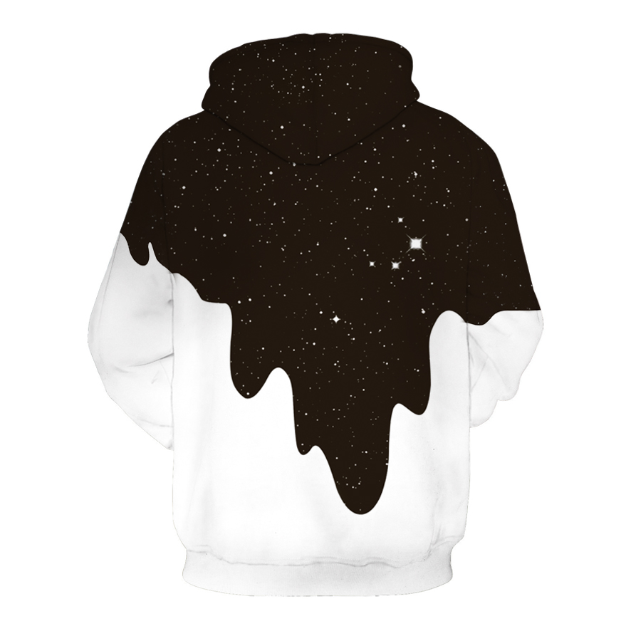Image 2 - 2019 Hot Fashion Men/Women 3D Autumn Sweatshirts Print Milk Space Galaxy Hooded Hoodies Unisex Tops Wholesale and retail-in Hoodies & Sweatshirts from Men's Clothing