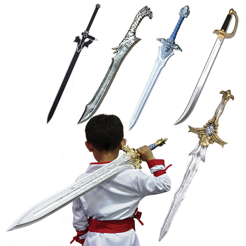 Hot Selling 2019 Products Children's Props Sword Stage Props PU Polyurethane Safety Simulation Weapons COS Anime Weapons