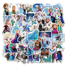 50pcs Disney Princess Sticker Frozen 2 Princess Sticker Computer frigorifero lavatrice adesivo per telefono adesivi decorativi