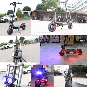 Image 3 - Powerful Electric Scooter 60V3200W 11inch Off Road Fat tire Dual Motor Wheel e scooter Foldable Adults Scooters Long Hoverboard