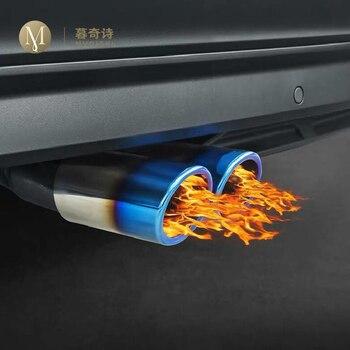 ユニバーサル独占エキゾーストマフラーヒントテールパイプスタイリングトリムクリップ車の自動車アクセサリーフォルクスワーゲンティグアン用 2.0T bmw