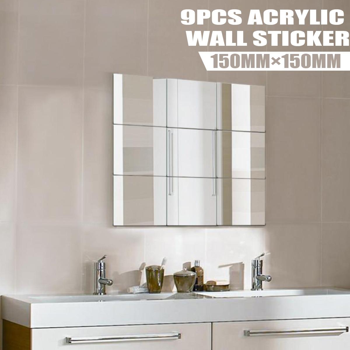 60x100CM Self Adhesive Film Wall Foil Mirror Sticker DIY Reflective Art Decals