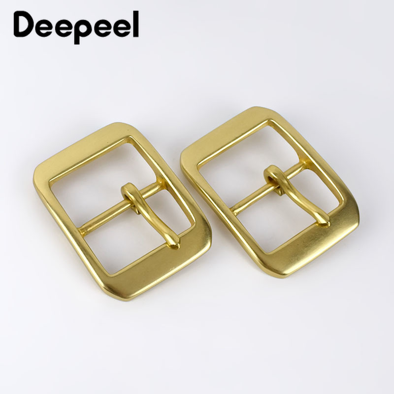 Deepeel 1pc 40mm Pure Copper Stainless Steel Belt Buckles For Men Pin Buckle Head DIY Jeans Leathercrafts Hardware Accessories