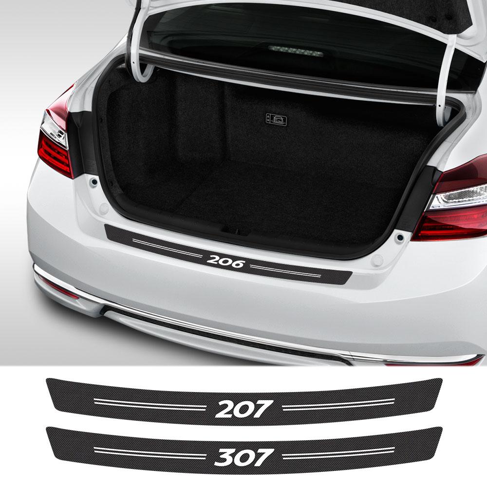 Защитная Наклейка из углеродного волокна для багажника, аксессуары для Peugeot 307 206 308 407 207 3008 208 508 2008 301 408 107 607 3008 5008