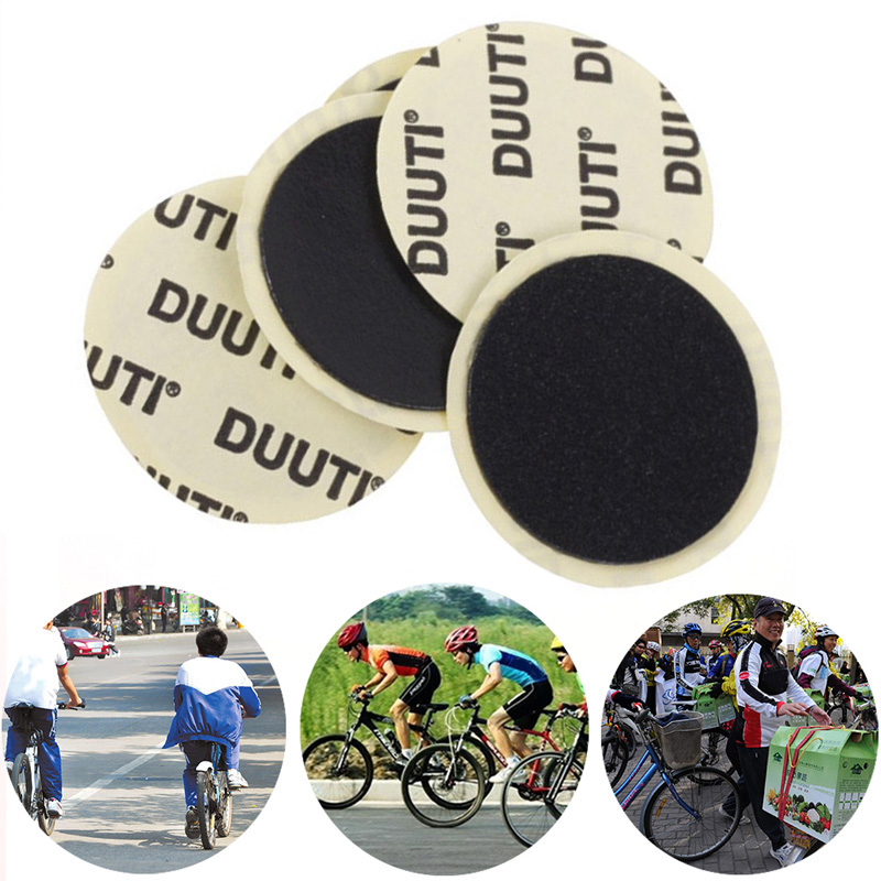 10PCS Cycling Mountain/Road Bike Tyre Puncture Fast Repair Tool Black Bicycle Inner Tire Patches No Glue Adhesive Patch Dropship