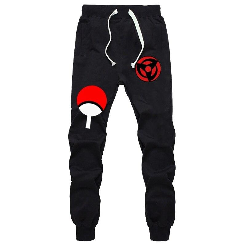 Anime Naruto Uchiha Sharingan Pants Autumn Winter Men Joggers Fitness Long Trousers Naruto Sasuke Luminous Sweatpants Plus Size