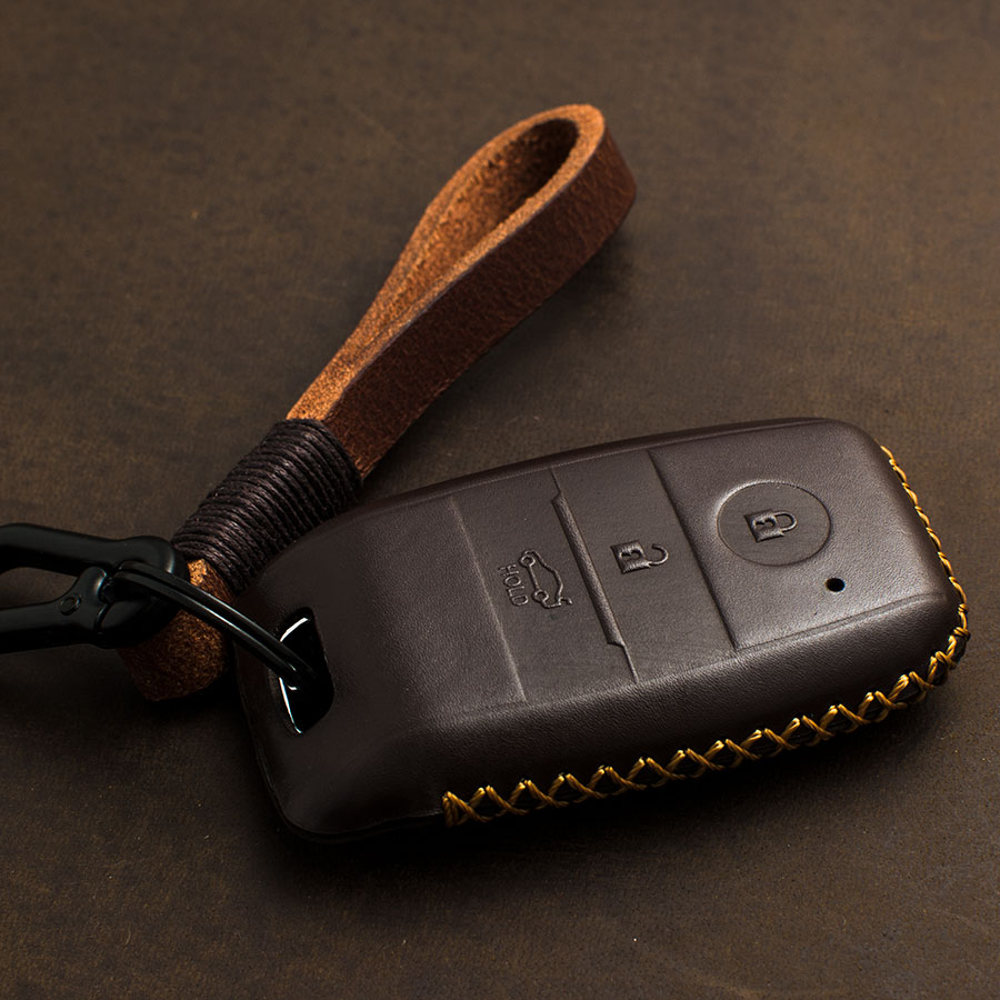1 PCS Genuine Leather Smart Key Case Key Cover For KIA KX3 KX5 K3S RIO Ceed Cerato Optima K5 Sportage Sorento