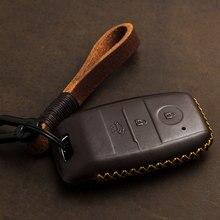 1 Pcs Echt Leer Smart Key Case Key Cover Voor Kia KX3 KX5 K3S Rio Ceed Cerato Optima K5 Sportage sorento