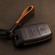 Housse de clé etui de clé intelligente en cuir véritable, pour KIA KX3 KX5 K3S RIO Ceed Cerato Optima K5 Sportage Sorento, 1 pièce