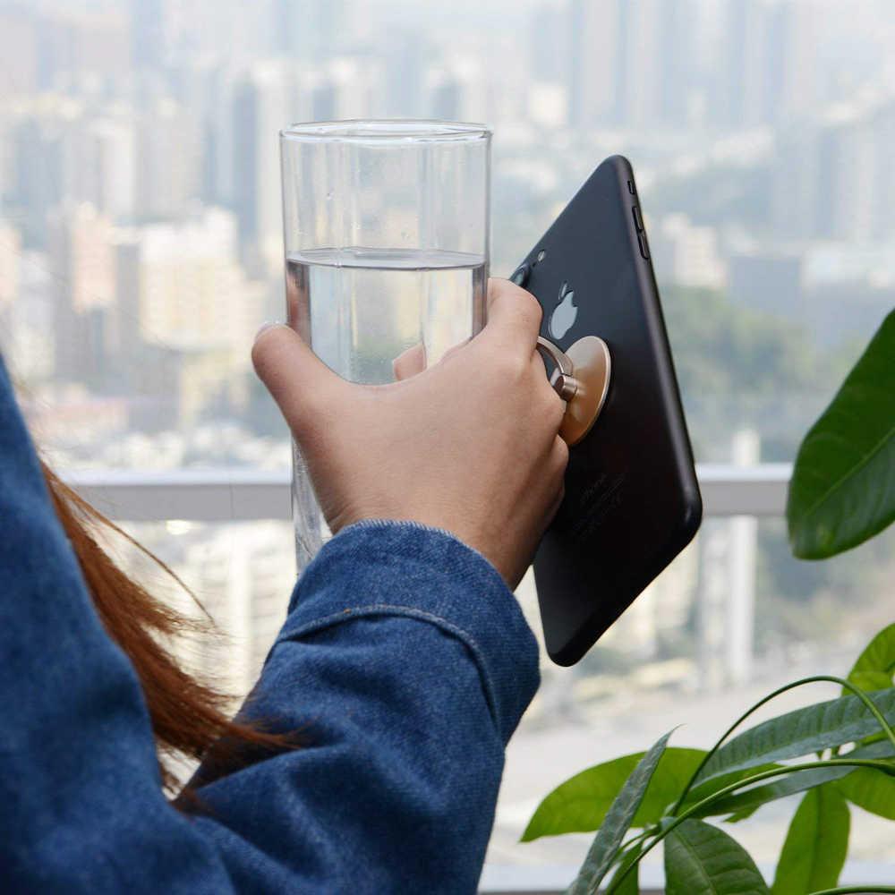 2 PCS טלפון טבעת מחזיק אוניברסלי נייד טלפון גריפ מתכת/פלסטיק אצבע טבעת עבור טלפון/Tablet Stand מחזיק עבור iphone מקרה