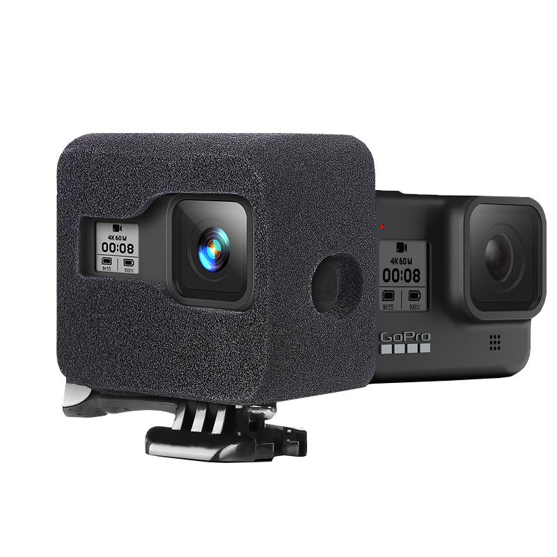 Pare-brise en mousse pour GoPro Hero 8 housse de pare-brise en mousse éponge noire housse de réduction du bruit du vent pour accessoires GoPro 8