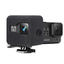 Windslayer קצף שמשות עבור GoPro גיבור 8 שחור ספוג קצף שמשה קדמית כיסוי רוח רעש הפחתת מקרה עבור GoPro 8 אביזרים