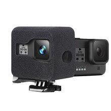 Windslayer köpük cam GoPro Hero 8 siyah sünger köpük cam kapak rüzgar gürültü azaltma kılıf için GoPro 8 aksesuarları