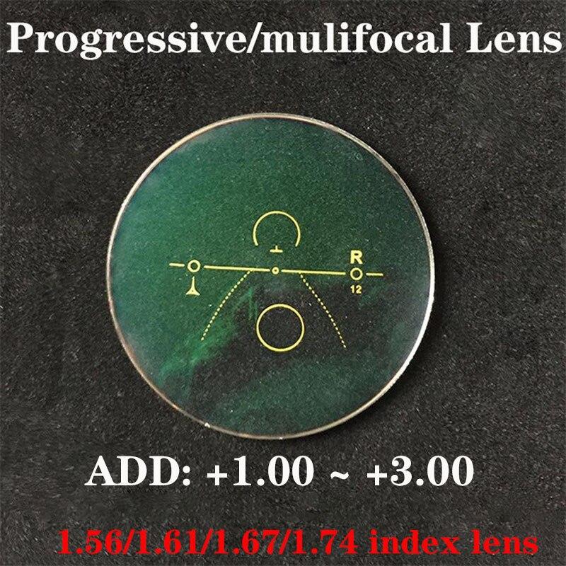 Vazrobe MultifocaL 1.74 Index Resin Progressive Glasses Lens Multifocal Myopia Diopter Lenses Coating UV