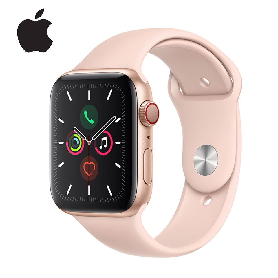 Apple Watch 5 Series 5 Aluminum Case With Sport Band GPS / Cellular Version Smartwatch Fitness Heart Rate Sports Tracker