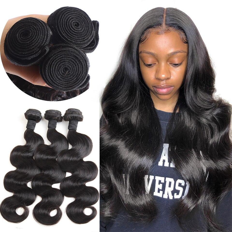 30 Inch Body Wave Virgin Human Hair Bundles Brazilian Hair Weave Bundles Wefts Cheap Human Hair Extensions 1 3 4 Bundle Deals