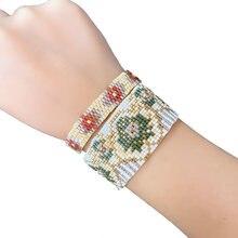 Rttooas Миюки Набор браслетов с цветами для женщин богемные