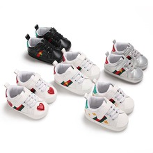 Hot Baby Moccasins Infant Anti-slip PU Leather First Walker Sneaker Soft Soled N